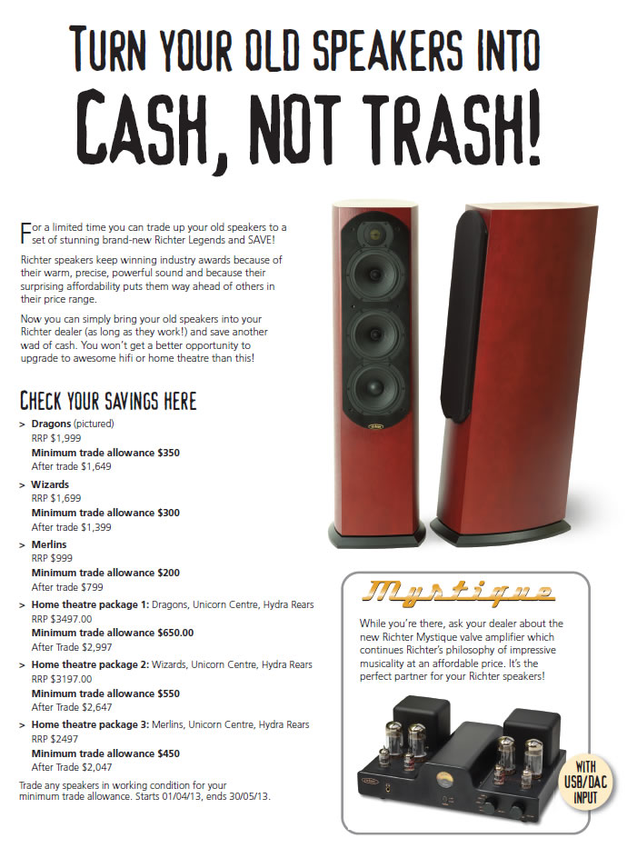 Turn your speakers into cash